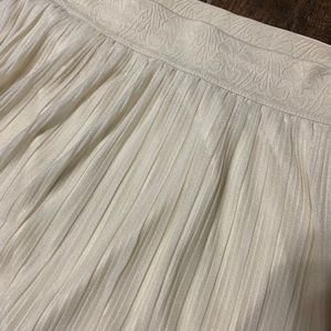 Skirts - A-line midi pleated skirt. Ivory or cream colored